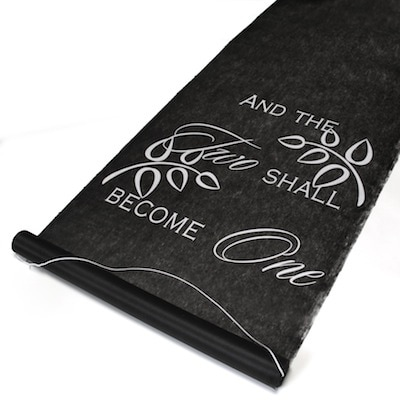 Two Shall Become One Aisle Runner - Black