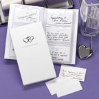 Linked Hearts Book of Wedding Wishes Set - Blank