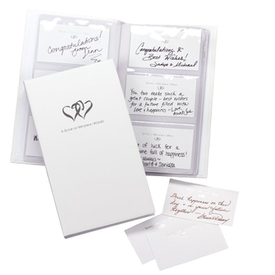 Linked Hearts Book of Wedding Wishes Set