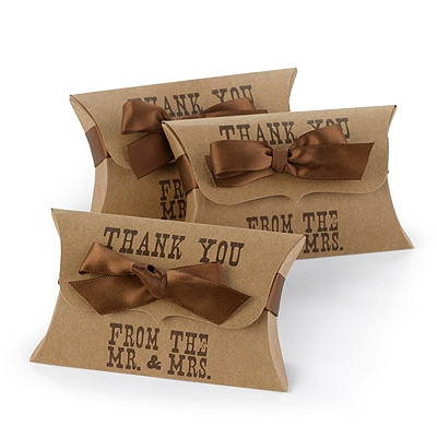 Western Style Pillow Favor Box