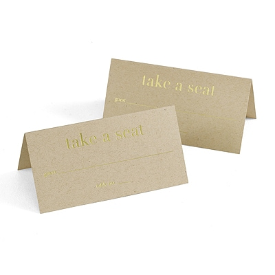 Golden Natural - Place Cards