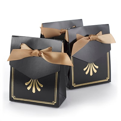 Art Deco - Tent Boxes - Gold