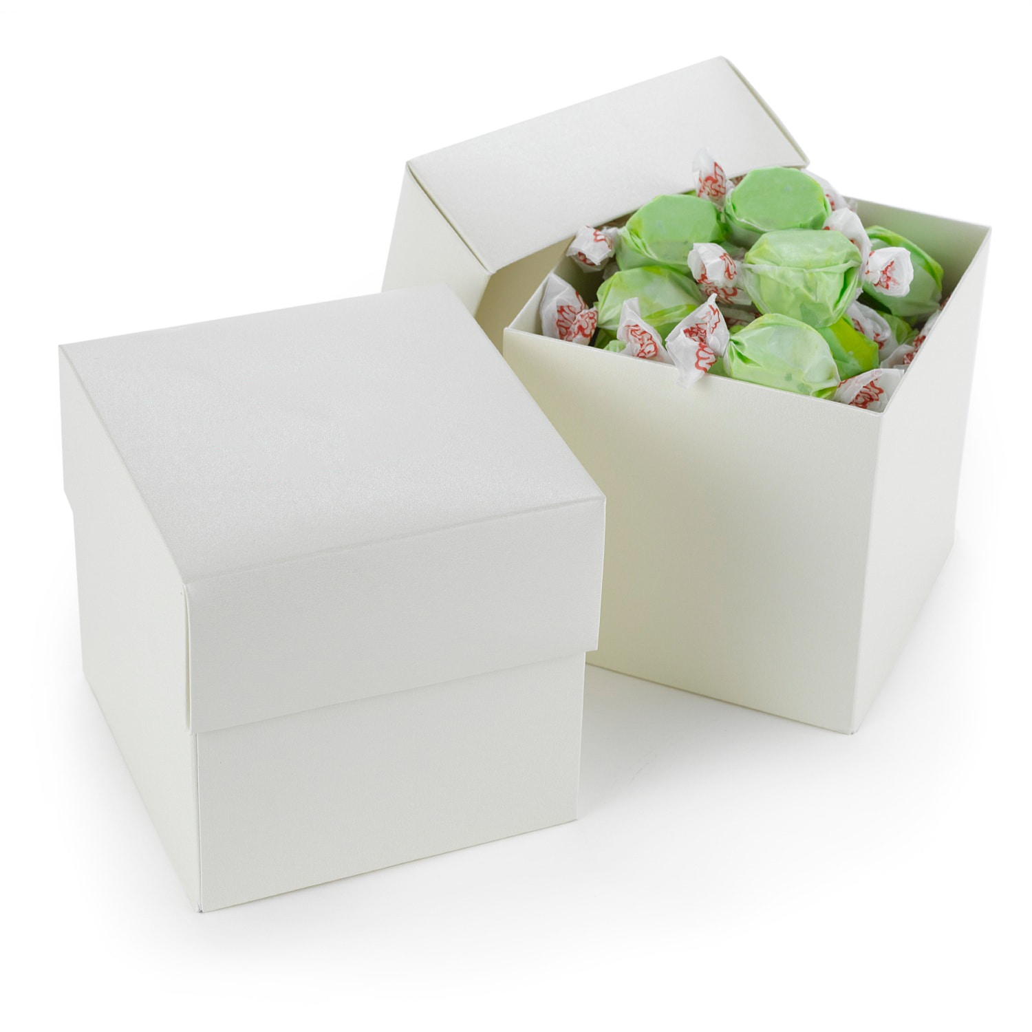 Two Piece Cupcake Box - Ivory Shimmer - Blank > Favors | Invitations ...