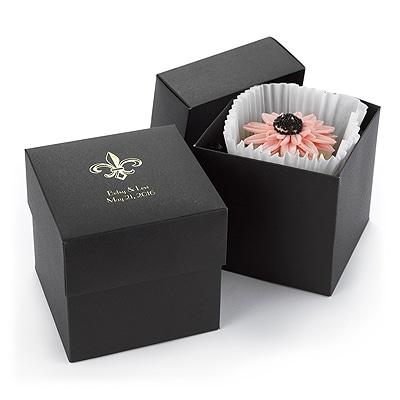 Two Piece Cupcake Box - Black