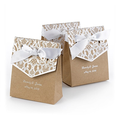 Naturally Vintage Tent Favor Box - Silver