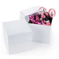 Two Piece Cupcake Box - White Shimmer - Blank