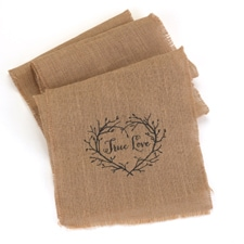 True Love Table Runner - Burlap