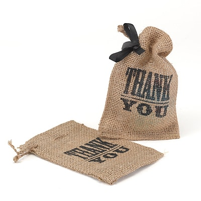 Thank You Burlap Favor Bag