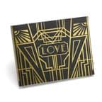 Art Deco Black Guest Book - Gold - Blank