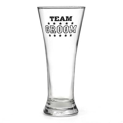 Team Groom Pilsner Glass
