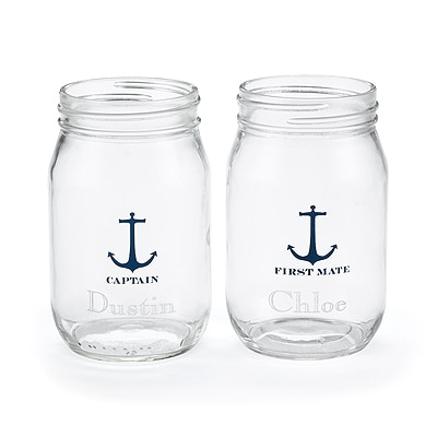 Nautical - Drinking Jars