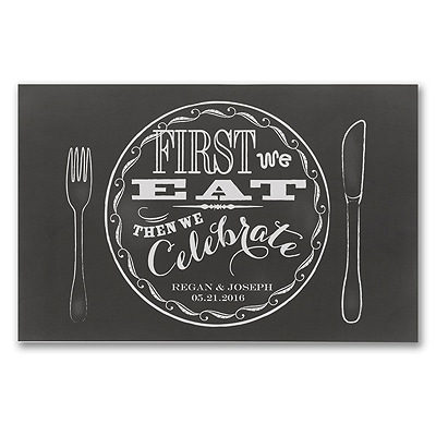 Chalkboard Style Placemats