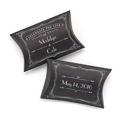 Chalkboard Pillow Boxes- Personalized