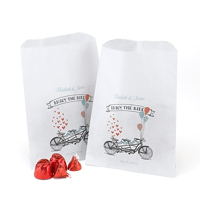 Tandem Treat Bags - White