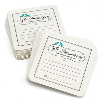 50th Anniversary Words of Love - Coaster