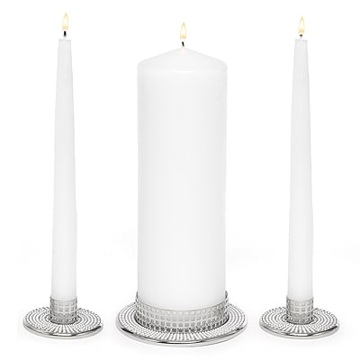Vintage Pearl - Candle Stand Set