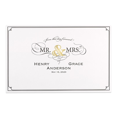 Golden Elegance Place Mat