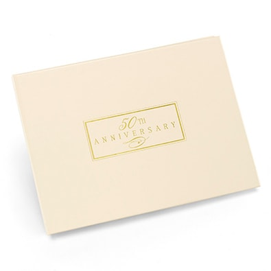 50th Anniversary Ivory Guest Book