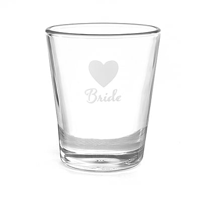 Heart Wedding Party - Shot Glass - Bride