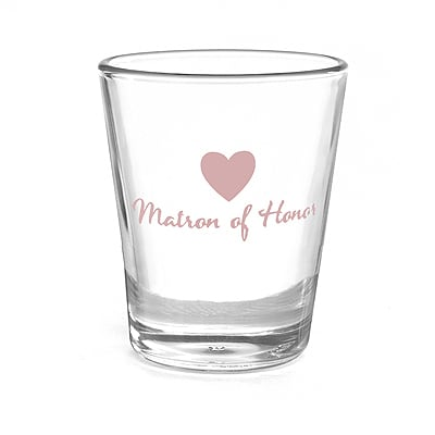 Heart Wedding Party - Shot Glass - Matron of Honor