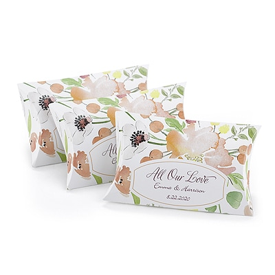 Floral Forever - Pillow Boxes - Personalized