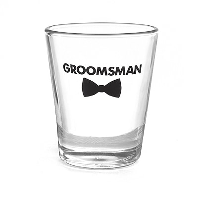 Bow Tie Wedding Party - Shot Glass - Groomsman