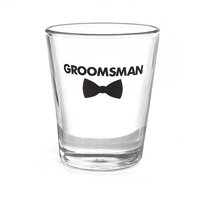 Bow Tie Wedding Party - Shot Glass - Groomsman