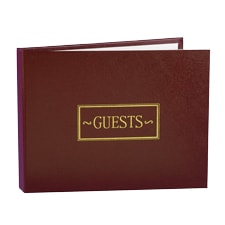 All Occasion Guest Book - Burgundy