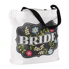 Chalkboard Floral - Tote Bag - Bride