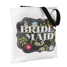 Chalkboard Floral - Tote Bag - Bridesmaid