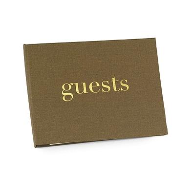 Golden Linen - Guest Book