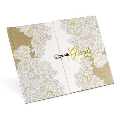 Rustic Lace Gatefold - Guest Book