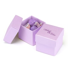 Two - Piece Favor Boxes - Ice Purple - Personalized
