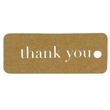 Kraft Thank You Tags - Silver