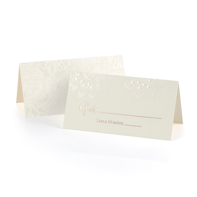 Lace Shimmers - Place Card