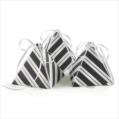Stripes Galore - Pyramid Favor Box