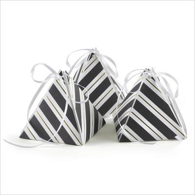 Stripes Galore - Pyramid Favor Box