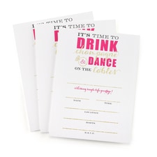 Champagne Dance Bachelorette Invitation