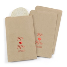 Mr. and Mrs. - Treat Bags - Personalized - Kraft