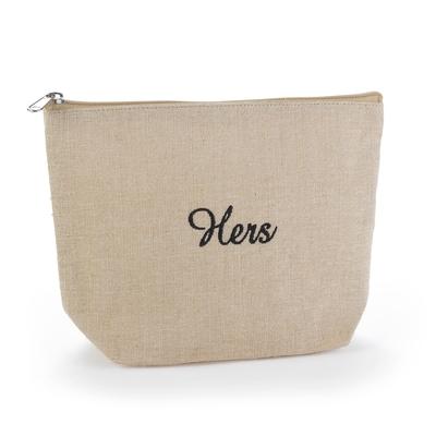 Hers - Jute Cosmetic Bag