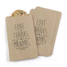 Newlywed Treat Bags - Personalized - Kraft