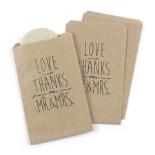 Newlywed Treat Bags - Design Only - Kraft