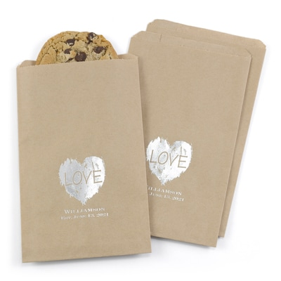 Brush of Love - Treat Bags - Personalized - Kraft