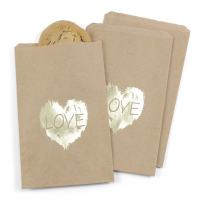 Brush of Love - Treat Bags - Design Only - Kraft