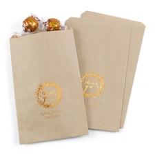 Rustic Wreath - Treat Bags - Personalized - Kraft