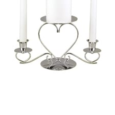 Triple Heart Candle Stand - Silver