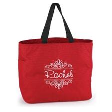 Flourish Frame - Tote Bag - Red