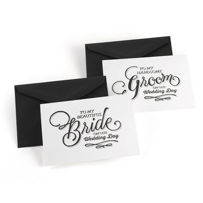 Beautiful Couple - Wedding Day Card Set