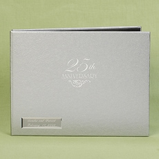 25th Anniversary Silver Guest Book -