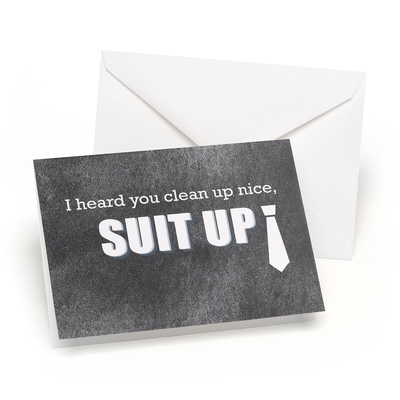 Suit Up - Wedding Day Card